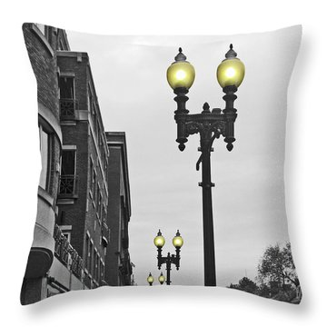Boston Streetlamps Throw Pillow