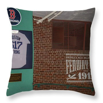 Boston Strong Throw Pillow by Tom Gort
