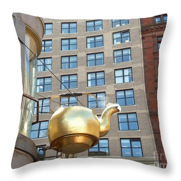 Boston Teapot - Color Closeup Throw Pillow