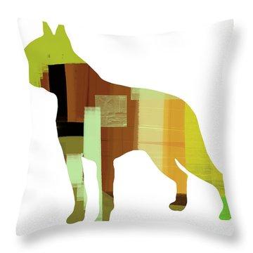 Boston Terrier Throw Pillow by Naxart Studio