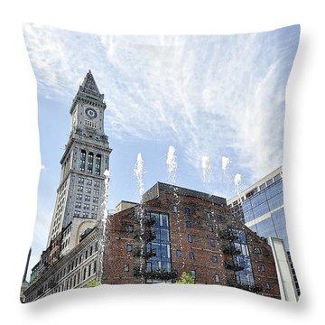 Boston You're My Home Throw Pillow