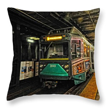 Boston's Mbta Green Line Throw Pillow