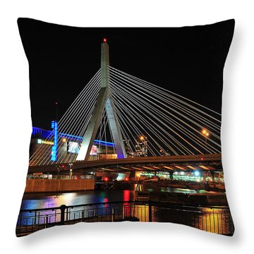 Boston's Zakim-bunker Hill Bridge Throw Pillow