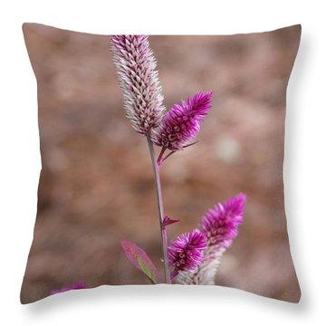 Botanical Bokeh Throw Pillow