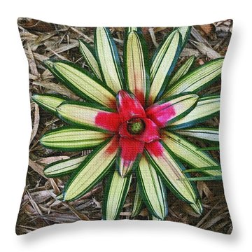 Botanical Flower Throw Pillow by Tom Janca