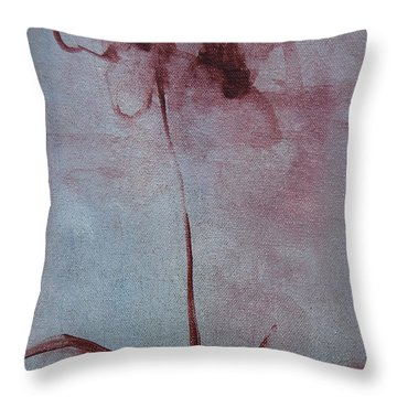Throw Pillow featuring the painting Botanical Flowers by Jani Freimann