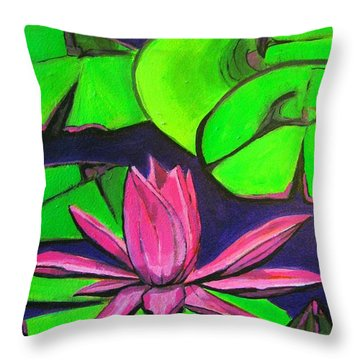 Botanical Lotus 1 Throw Pillow by Grace Liberator