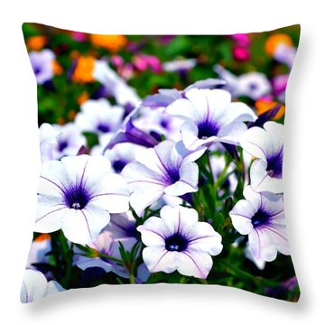 Throw Pillow featuring the photograph Botanical Medley by Deena Stoddard