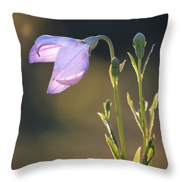 Botanical Purple Iris Throw Pillow