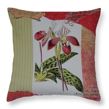 Botanical Study Throw Pillow