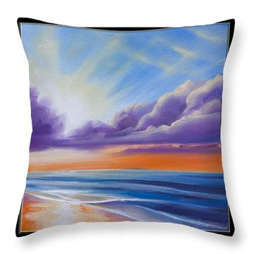 Botany Bay Shoreline Throw Pillow by James Christopher Hill