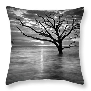 Botany Bay Sunrise 6 Black And White Throw Pillow