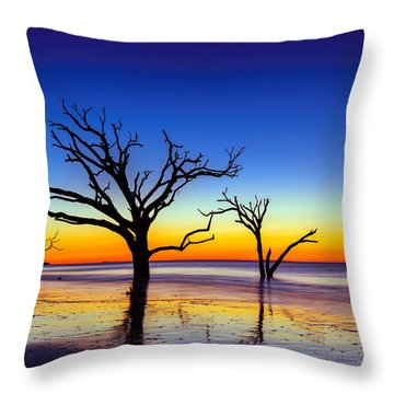 Botany Bay Sunrise On Edisto Island South Carolina Throw Pillow by Serge Skiba