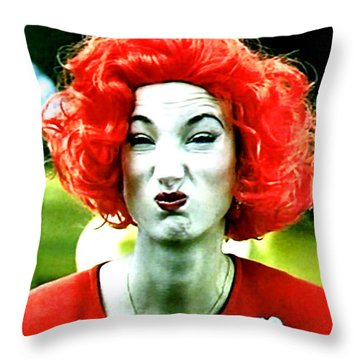 Both Eyes Blinking Means Trouble Higher Up Throw Pillow