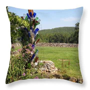 Throw Pillow featuring the photograph Bottle Bushes by Mark McReynolds