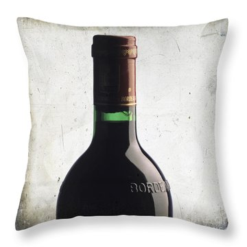 Bottle Of Bordeaux Throw Pillow by Bernard Jaubert