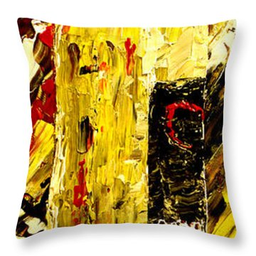 Bottle Of Wine  Throw Pillow by Mark Moore