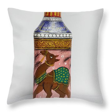 Bottle Painting  Throw Pillow