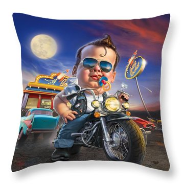 Bottle Rocket Diner Throw Pillow