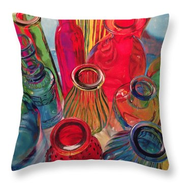 Bottle Tops Throw Pillow
