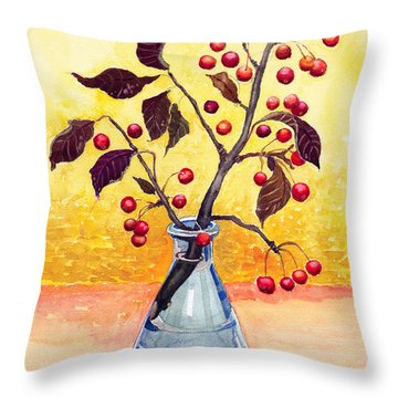 Bottled Autumn Throw Pillow by Katherine Miller