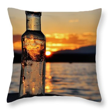 Bottled Sun Throw Pillow