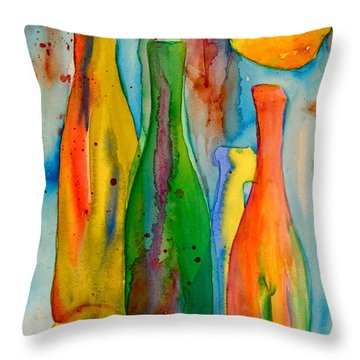 Bottles And Lemons Throw Pillow