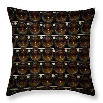 Bottles. Ca Del Bosco Winery. Franciacorta Docg Throw Pillow by Jouko Lehto