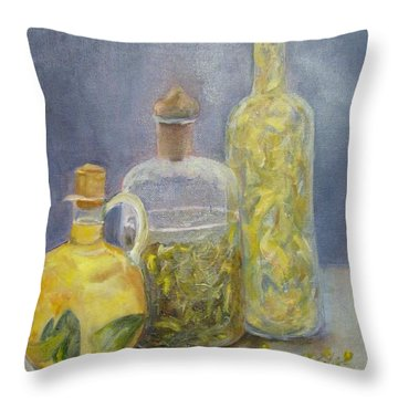 Bottles Throw Pillow