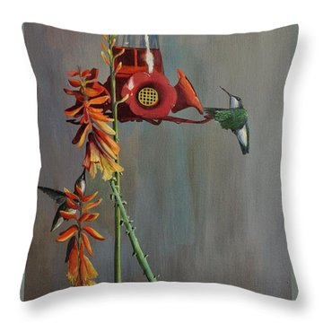 Throw Pillow featuring the painting Bottoms Up by AnnaJo Vahle