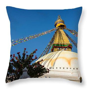 Boudhanath Stupa Throw Pillow