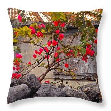 Bougainvillea Throw Pillow by Jocelyn Kahawai