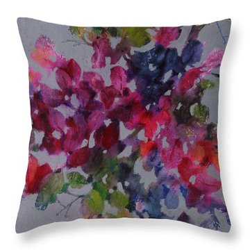 Bougainvillea Throw Pillow by Michelle Abrams