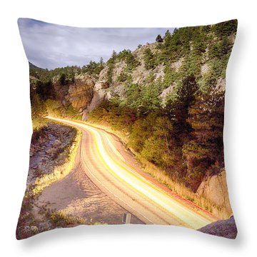 Boulder Canyon Beams Of Light Throw Pillow by James BO  Insogna