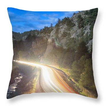 Boulder Canyon Neon Light  Throw Pillow by James BO  Insogna