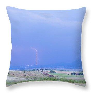 Boulder Colorado Lightning Strike Throw Pillow by James BO  Insogna