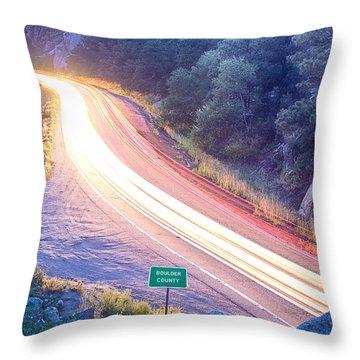 Boulder County Colorado Blazing Canyon View Throw Pillow by James BO  Insogna
