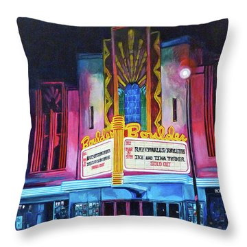 Boulder Theater Throw Pillow by Tom Roderick