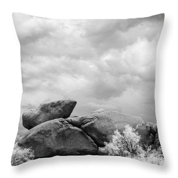 Boulders In Another Light Throw Pillow by Michael McGowan