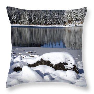 Boulders Of Mcleod Throw Pillow by Chris Brannen