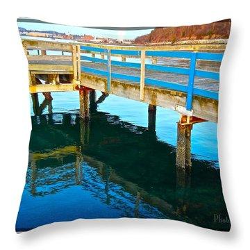 Boulevard Blue Throw Pillow