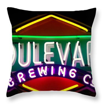 Boulevard Brewing Throw Pillow