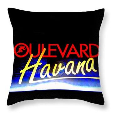 Boulevard Havana Cuba Throw Pillow