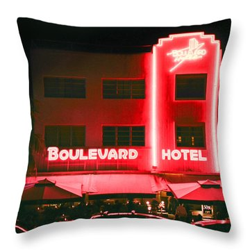 Boulevard Hotel Throw Pillow by Gary Dean Mercer Clark