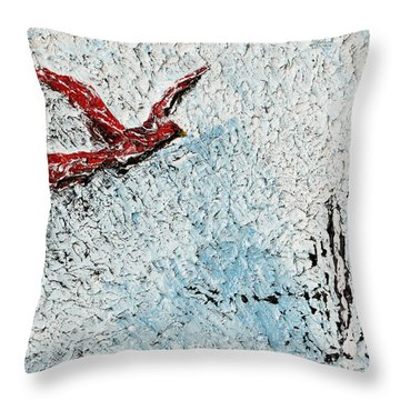 Bound To Fly Throw Pillow by Alys Caviness-Gober
