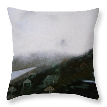 Throw Pillow featuring the painting Boundary by Min Zou
