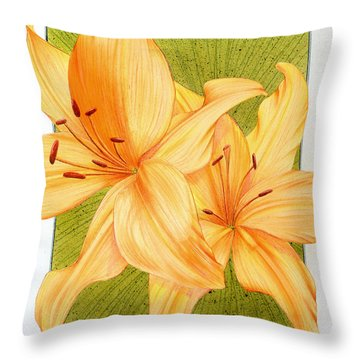 Bounding Bloom Throw Pillow