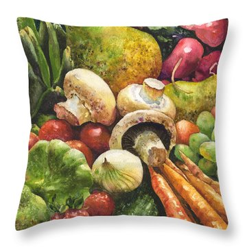 Bountiful Throw Pillow by Anne Gifford