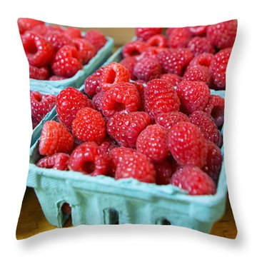 Bounty Of Berries Throw Pillow by Caitlyn  Grasso