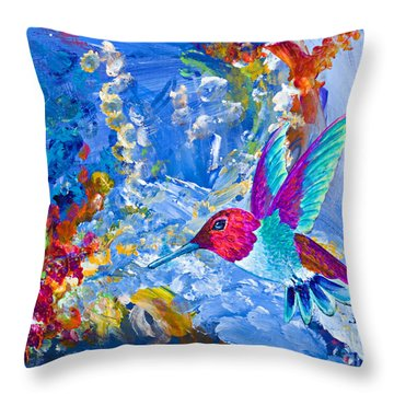 Bounty Throw Pillow by Tracy L Teeter